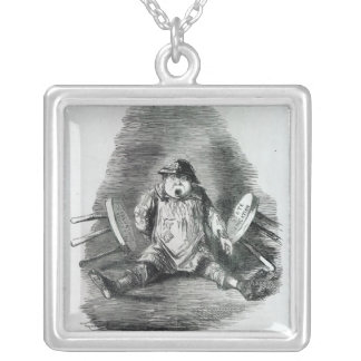 The Educational Question' Silver Plated Necklace