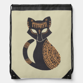 The Egyptian Cat Drawstring Bag