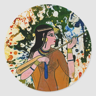The Egyptian Enchantress by Michael Moffa Classic Round Sticker