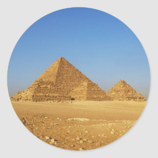 The Egyptian pyramids Classic Round Sticker