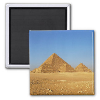The Egyptian pyramids Square Magnet