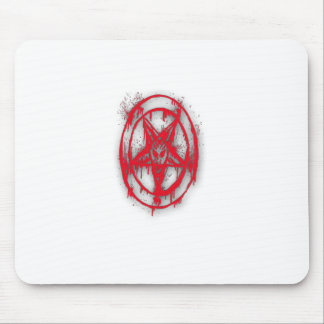 The Egyptian Symbol Of Good Luck with Color Red Mouse Pads