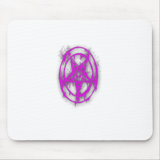 The Egyptian Symbol Of Good Luck with Color Violet Mousepad