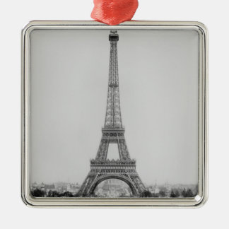 The Eiffel Tower 2 Silver-Colored Square Decoration
