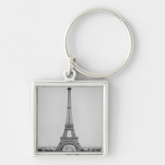 The Eiffel Tower 2 Silver-Colored Square Key Ring