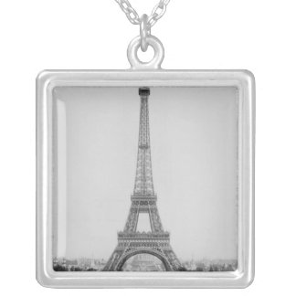 The Eiffel Tower 2 Silver Plated Necklace