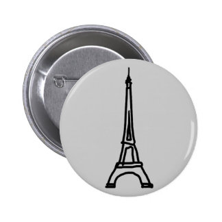The Eiffel Tower 6 Cm Round Badge
