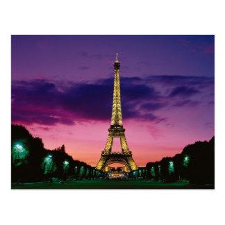 The Eiffel Tower Against A Spectacular Sky Postcard