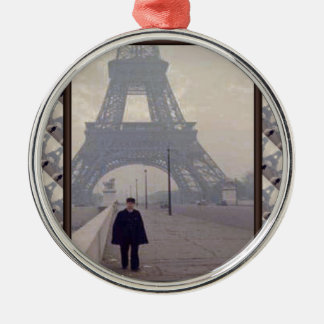 The eiffel tower and a Gendarme Christmas Ornament