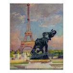 The Eiffel Tower and the Elephant by Fremiet Posters