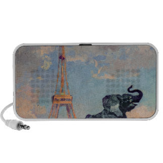 The Eiffel Tower and the Elephant by Fremiet Travel Speakers