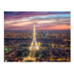 The Eiffel Tower at night, Paris France Post Card