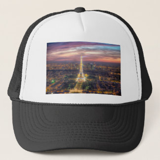 The Eiffel Tower at night, Paris France Trucker Hat