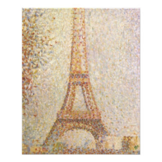 The Eiffel Tower by Georges Seurat 11.5 Cm X 14 Cm Flyer