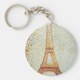 The Eiffel Tower by Georges Seurat Key Chains