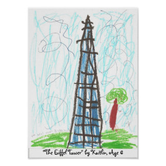 """The Eiffel Tower"" by Kaitlin, ... Poster"