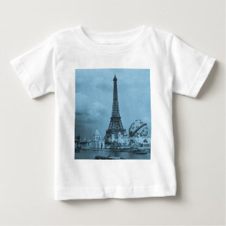 The Eiffel Tower from the Seine Paris 1900 T-shirts