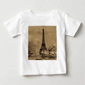 The Eiffel Tower from the Seine Paris Exposition T-shirts