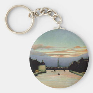 The Eiffel Tower Henri Rousseau 1898 Basic Round Button Key Ring