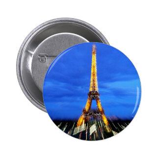 The Eiffel Tower Paris France Buttons