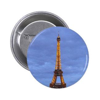 The Eiffel Tower Paris France Pinback Button