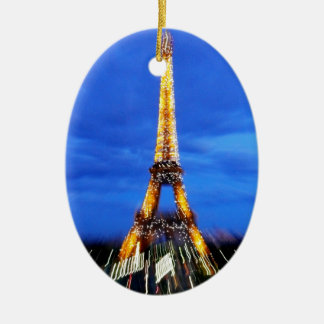 The Eiffel Tower Paris France Ceramic Oval Decoration