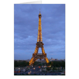 The Eiffel Tower Paris France Greeting Cards