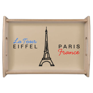 the Eiffel Tower - Paris/France Serving Platter