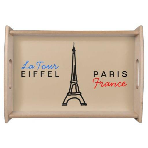 the Eiffel Tower - Paris/France Serving Platter