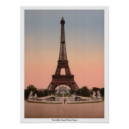 The Eiffel Tower, Paris, France Poster