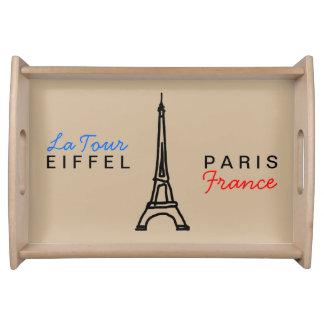 the Eiffel Tower - Paris France Serving Platter