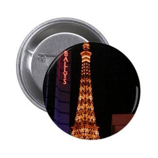 The Eiffel Tower Reproduction At Paris Las Vegas Pinback Buttons