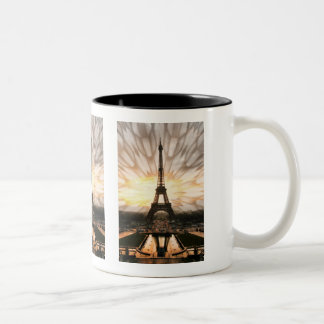 The Eiffel Tower! Two-Tone Coffee Mug