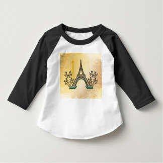 The Eiffel Tower with floral elments T-shirts