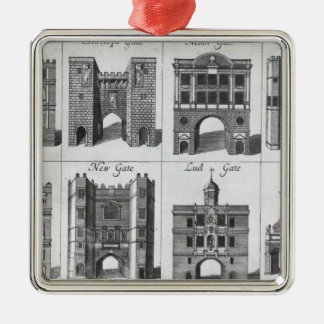The Eight Gates of the City of London Christmas Ornament