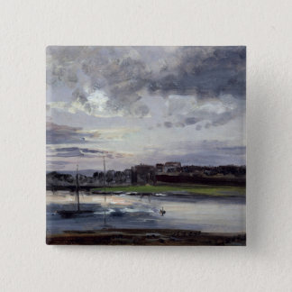 The Elbe and the New Town, Dresden 15 Cm Square Badge