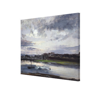 The Elbe and the New Town, Dresden Gallery Wrapped Canvas