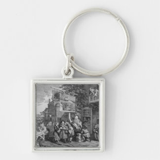 The Election II: Canvassing for Votes Silver-Colored Square Key Ring