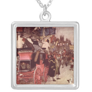 The Election Parade at Eatanswill Silver Plated Necklace