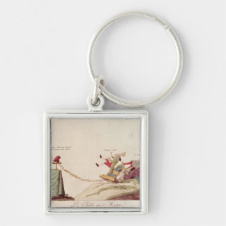 The Electrical Spark of Liberty' Silver-Colored Square Key Ring