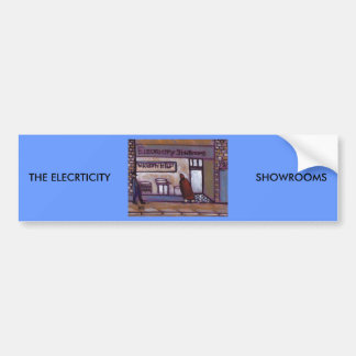 THE ELECTRICTY SHOWROOM CAR BUMPER STICKER