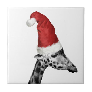 The Elegance of the Christmas Giraffe Tile