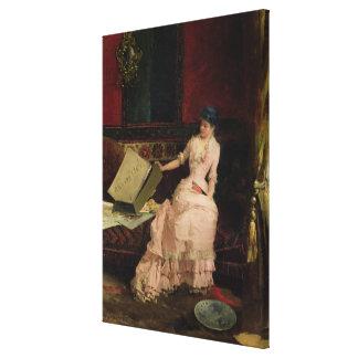 The Elegant Connoisseur, 1883 (oil on canvas) Canvas Print