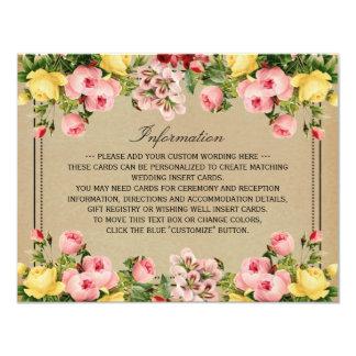 The Elegant Vintage Floral Wedding Collection 11 Cm X 14 Cm Invitation Card
