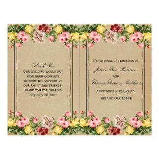 The Elegant Vintage Floral Wedding Collection 21.5 Cm X 28 Cm Flyer