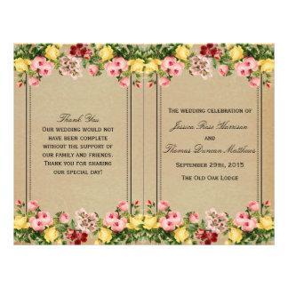The Elegant Vintage Floral Wedding Collection 21.5 Cm X 28 Cm Flyer