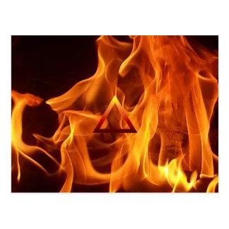 The Element Fire Symbol Postcard