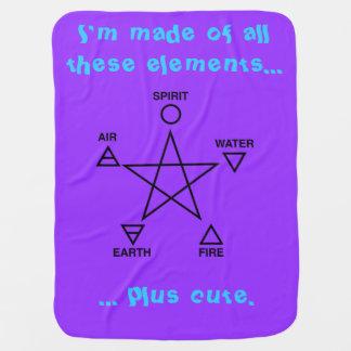 The Element of Cute Baby Wicca Blanket Pramblanket