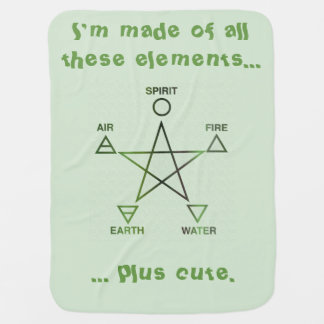 The Element of Cute Baby Wicca Blanket Receiving Blankets
