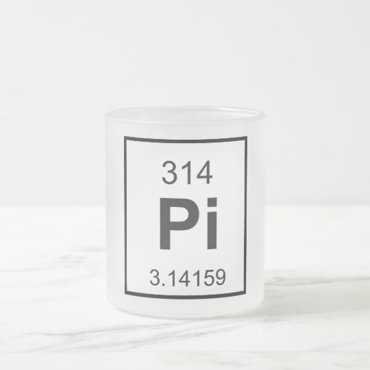 The Element of Pi Frosted Glass Coffee Mug